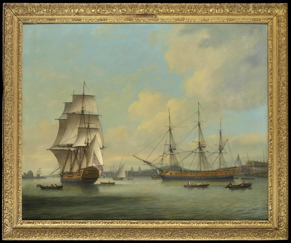Thomas LUNY, The Eastindiaman Boddam at Deptford