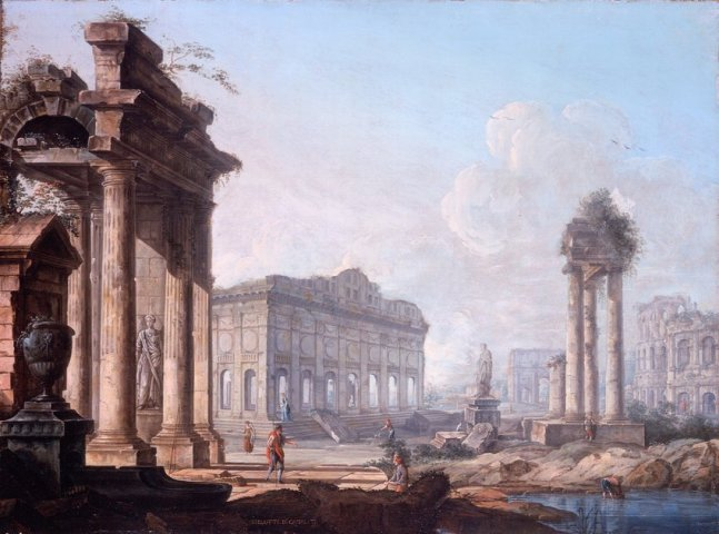 Pietro BELLOTTI, Capricci of Classical Ruins (a pair)