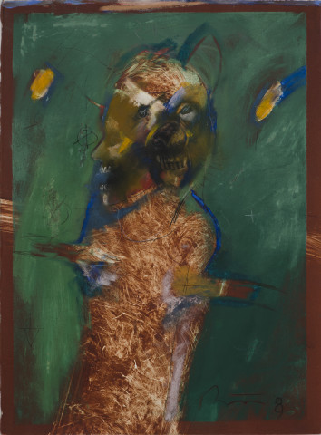 Rick Bartow, In Dreams of Dogs, 2009