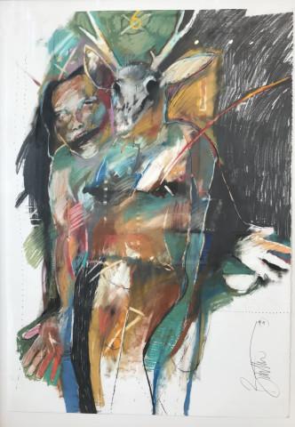 Rick Bartow, Deer Spirit, 1994