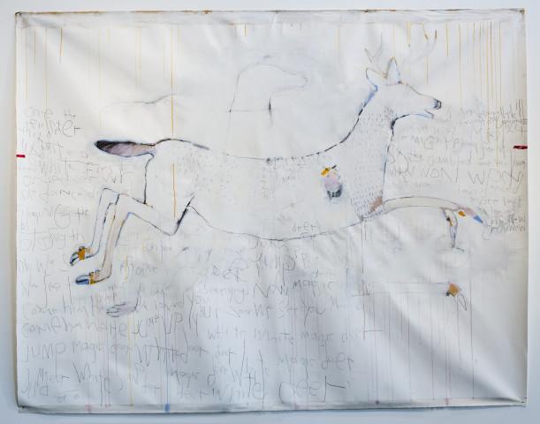 Rick Bartow, White Deer, 2013