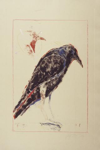 Rick Bartow, Crow Waiting, 1992
