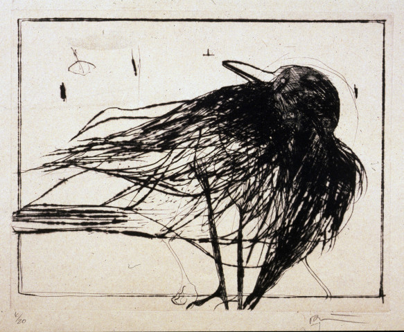 Rick Bartow, Looking Back Crow, 2001