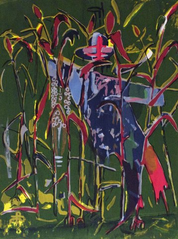 Bruce Onobrakpeya, Scarecrow II: A Revisit of the Sunshine Period (1960 - 70)