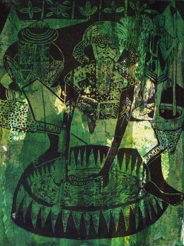 Bruce Onobrakpeya, Zaria Indigo II: A Revisit of the Sunshine Period (1960 - 70)