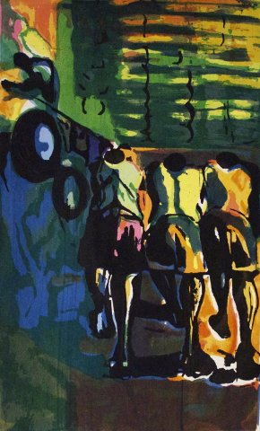 Bruce Onobrakpeya, Sugar Cane Truck Pushers: A Revisit of the Sunshine Period (1960 - 70)