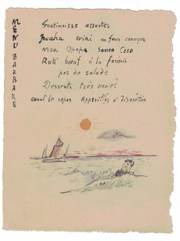 Paul Gauguin, Menu Barbare, c.1899-1901