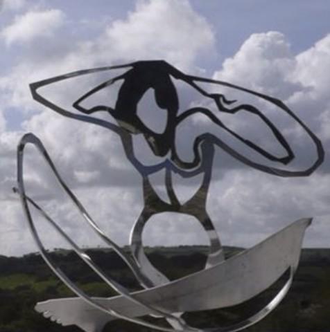 Louise Hunt, Fireside Nude, 2004