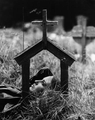 Sam Haskins, November Girl Grave Scene , 1966