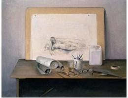 Rodrigo Moynihan, Drawing among Objects, 1986