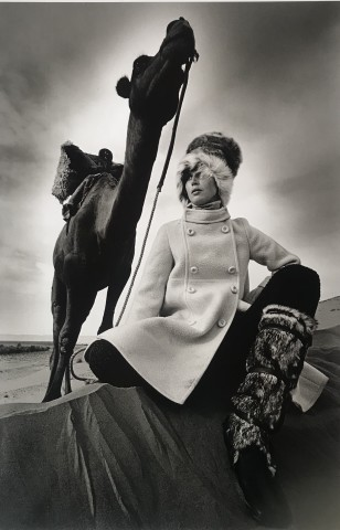 Jeanloup Sieff, Coat Marc Sport at Griselda, boots Karl Lagerfeld for Charles Jourdan, Morocco, Vogue, 1967