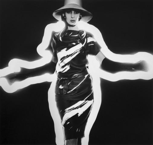 Benedetta Barbini + Zebra-Striped Dress + Light, Paris (Vogue)
