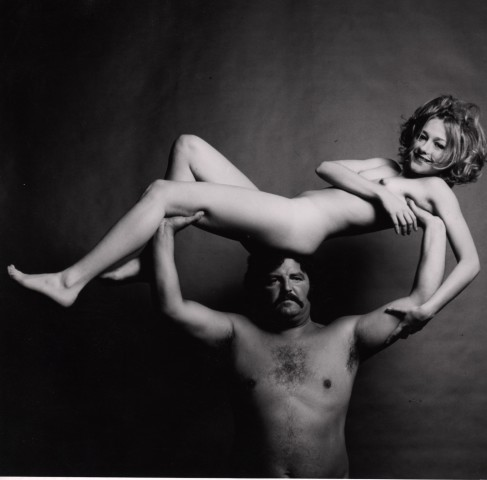 Guy Bourdin, Nude on Strongman, before 1972