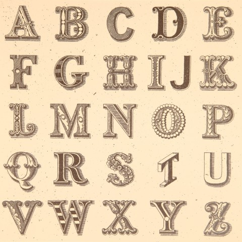 Sir Peter Blake, Appropriated Alphabet No.1, 2013