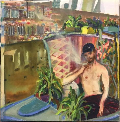 Rebecca Harper, Man on the Canal, 2018