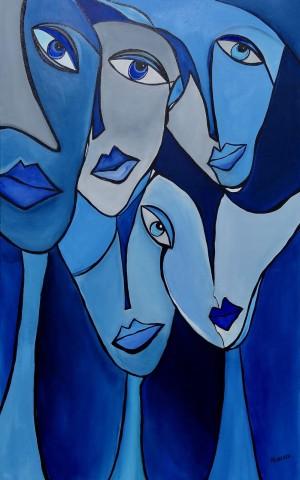 Idania R. Venereo, Blue Smiles, 2017