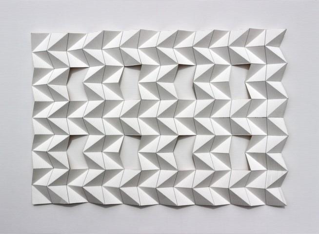 Tony Blackmore, Paper fold 6 Open Grid, 2015