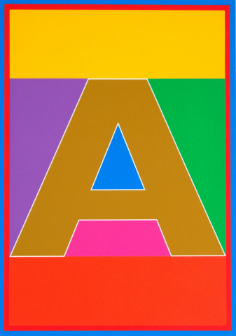 Sir Peter Blake, The Dazzle Alphabet Letter A, 2017