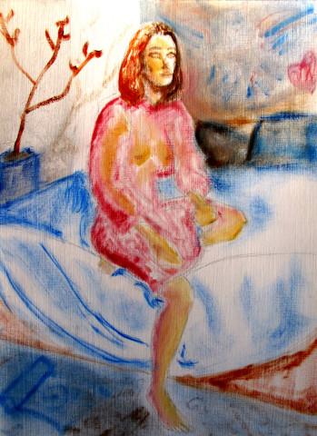 Anna Kazan, Red Sitting Study, 2018