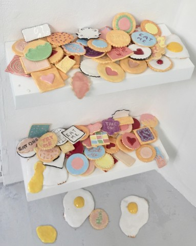 Emilie Fitzgerald, Assorted Cookies and Fried Eggs, 2019