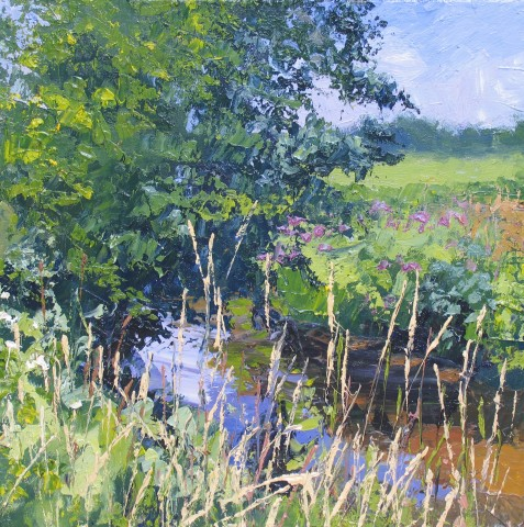 Summer River and Meadow