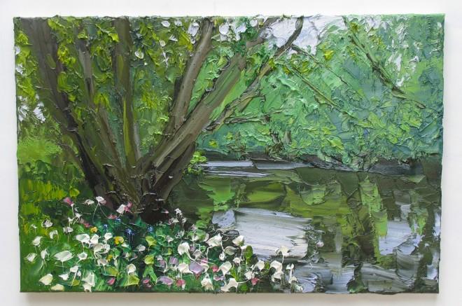 Colin Halliday, Wild Flowers Riverbank, 2014-15