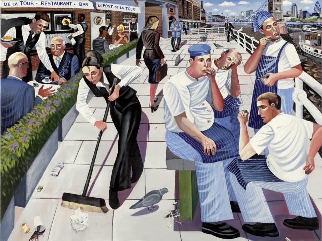 Ed Gray, Chefs Butlers Wharf, Tower Bridge, 2007