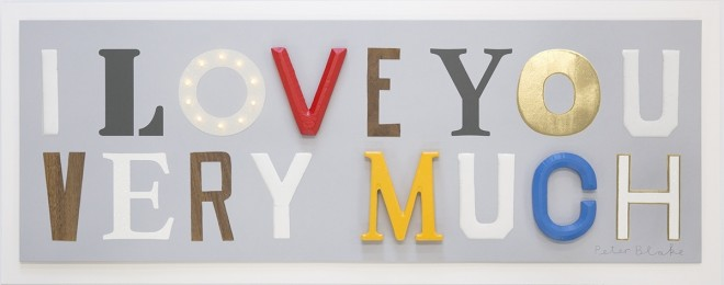 Sir Peter Blake, I Love You Very Much, 2016