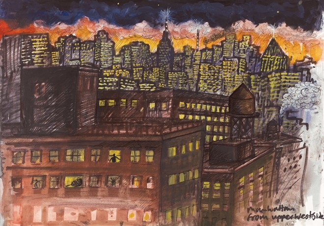 Ed Gray, Manhattan From Upper West Side, 2012