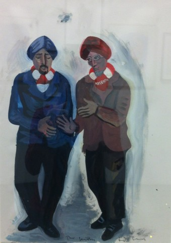 Two Sikhs (Study for Arsenal Adoration at the Emirates)