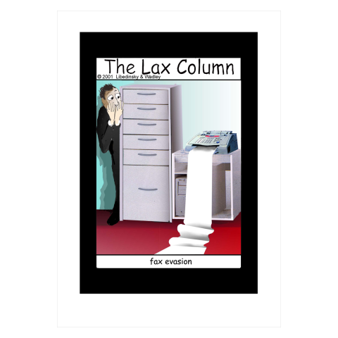 Sylvia Libedinsky, The Lax Column - fax evasion