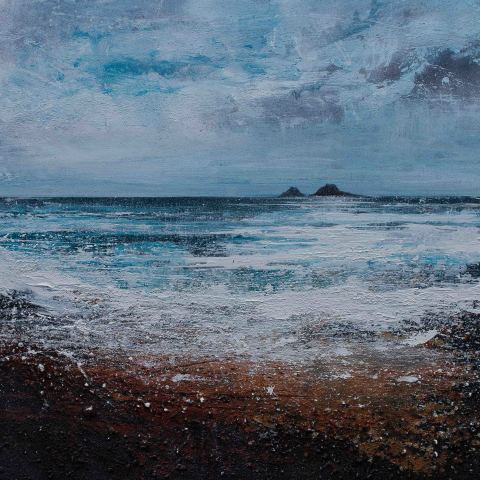 Wild in the wind at Cape Cornwall