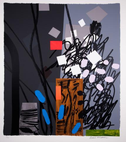 Bruce McLean, Shades of Grey, Cerulean Blue, 2017