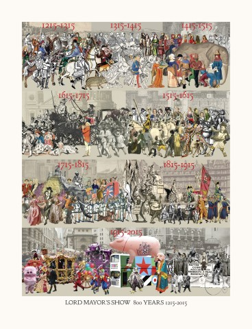 Sir Peter Blake, Lord Mayor's Show, 800 Years 1215 - 2015, 2015