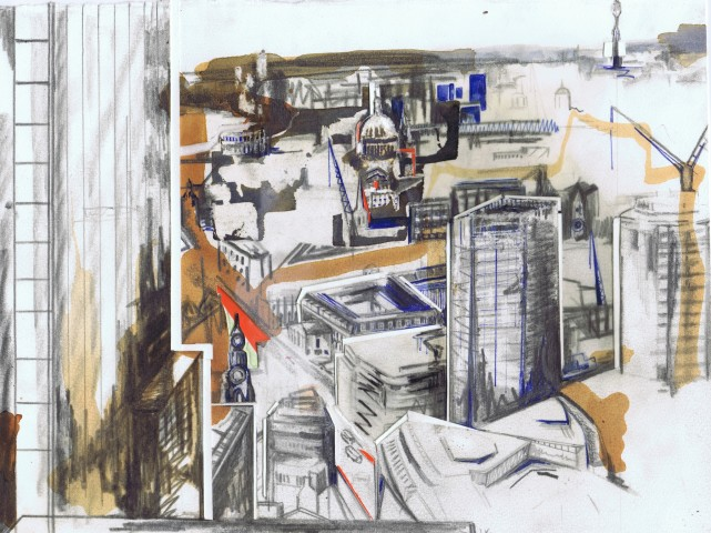 View From The Gherkin, Sketch