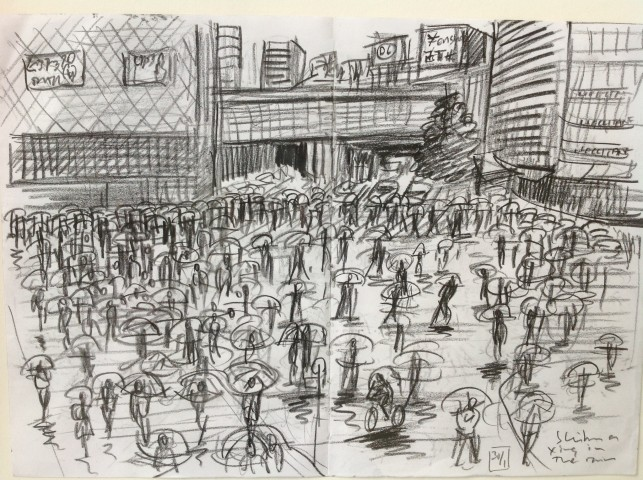 Shibuya Crossing In the Rain, Tokyo