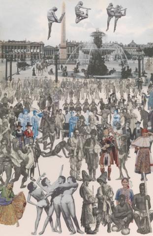 Sir Peter Blake, Dancing, Place de la Concorde: Paris Quartet, 2010