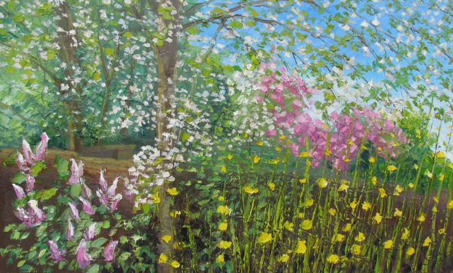 Colin Halliday, Garden in Bloom, 2016