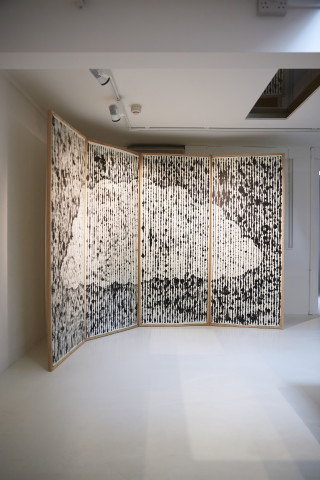 Peter Randall-Page, Raincloud Screen , 2015