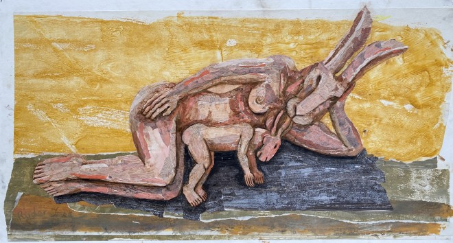 Sophie Ryder, RECLINING MOTHER AND BABY, 2020