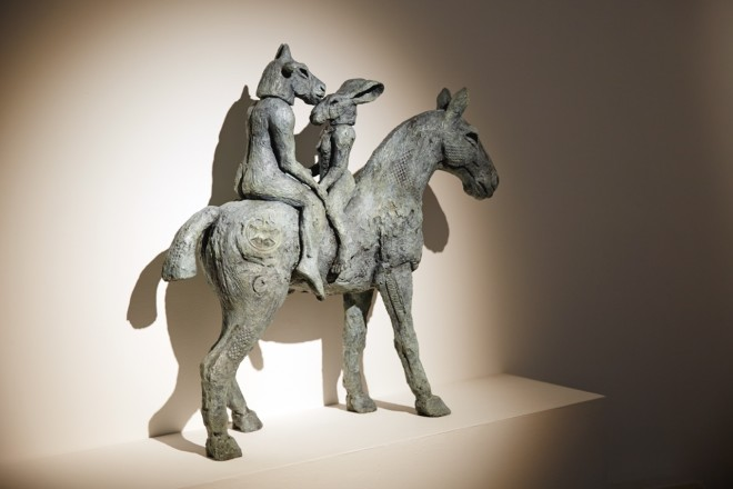 Sophie Ryder, Lovers on Horseback, 2013