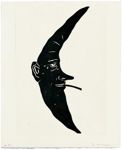 David Austen, Black smoking moon, 2006