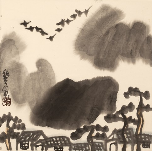 Mountains of Sichuan Album No. 1 (4)蜀山册 之一(4)