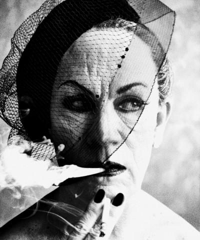 William Klein / Smoke and Veil, Paris (Vogue) (1958)
