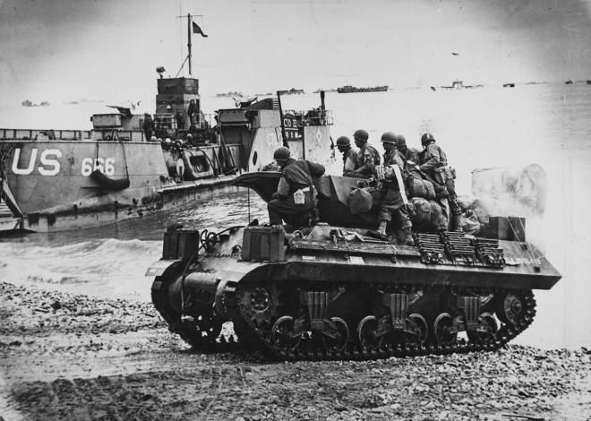 Robert Capa, Tanks at Normandy Beach, France, June, 1944