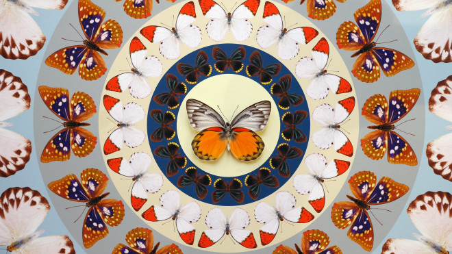 Iain Cadby, Target Mandala (Orange and Cinnamon) *SOLD*, 2020