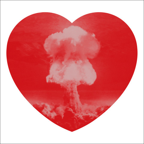 Iain Cadby, Love Bomb (Red and Silver), 2019