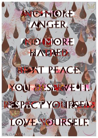Iain Cadby, No More Anger, No More Hatred (Redacted silver), 2017