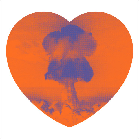 Iain Cadby, Love Bomb (Orange and Purple), 2019