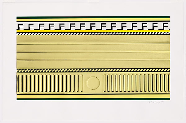 Roy Lichtenstein, Entablature III, 1976